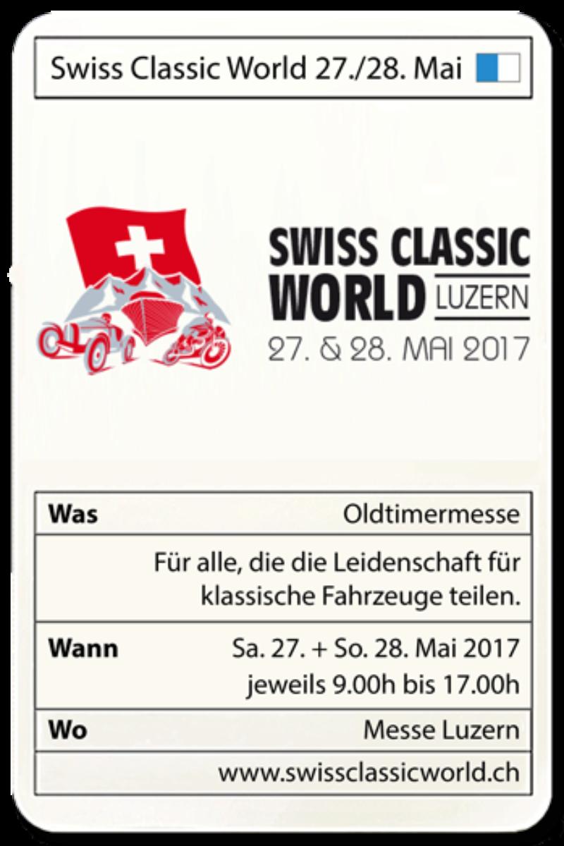 Swiss Classic World 27./28. Mai